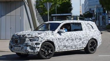 2019 Mercedes GLS spy shot front quarter