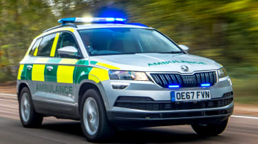 Skoda Karoq ambulance - front tracking