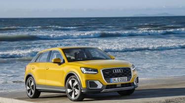 Audi Q2 Yellow front sea