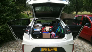 Vauxhall Ampera boot