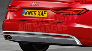 Audi A6 exclusive image (watermarked) - rear detail