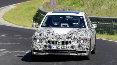 BMW 3 Series - track spyshot full front