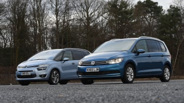 Volkswagen Touran vs Citroen Grand C4 Picasso - static