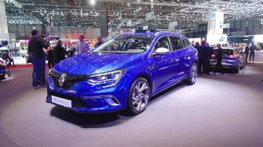Renault Megane Sport Tourer Geneva - front three quarter