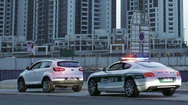 Bentley police car