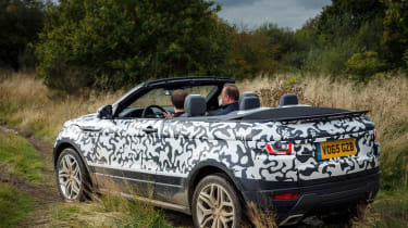 Range Rover Evoque Convertible passenger ride rear