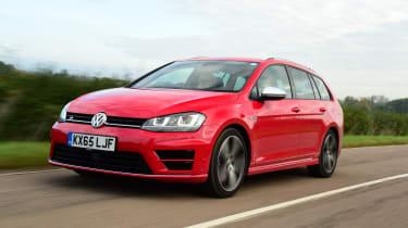 Volkswagen Golf R Estate front tracking