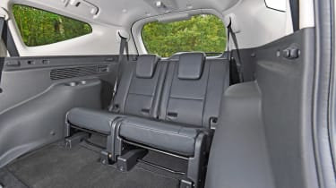 Mitsubishi Shogun Sport third-row rear seats