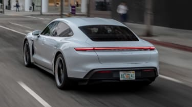 Porsche Taycan 4S - rear city