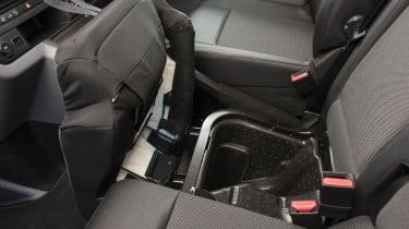 Vauxhall Vivaro van - seat storage