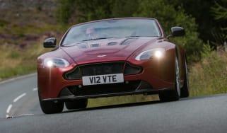 Aston Martin V12 Vantage S Roadster front action