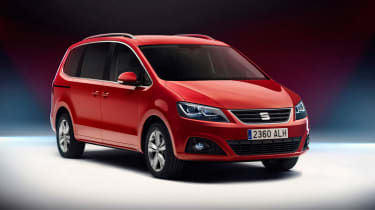 This is the light facelift of the Seat Alhambra MPV for 2015.