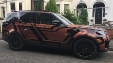Land Rover Discovery 2017 - spy shot orange side