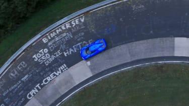 NextEV NIO EP9 electric hypercar - tracking Nurburgring