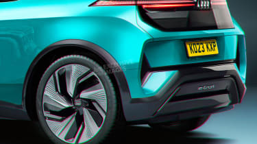 Audi electric supermini - rear detail (watermarked)
