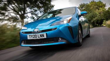 Toyota Prius driving - close up