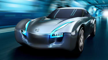 Nissan ESFLOW electric sports car front