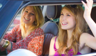 Happy drivers, happy motorists, young drivers, learner