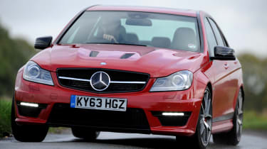 Mercedes C63 AMG front tracking