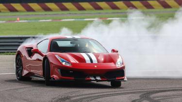 Ferrari 488 Pista - drifting
