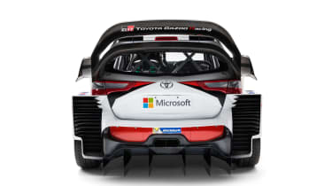 New Toyota Yaris WRC rally car revealed for 2017 rear