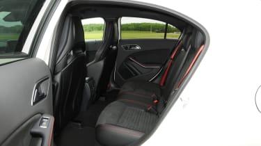 Mercedes A45 AMG rear seats