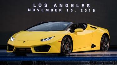 Lamborghini Huracan rear-wheel drive Spyder LA Show