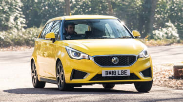 MG3 - front cornering