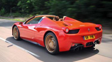Ferrari 458 Spider rear
