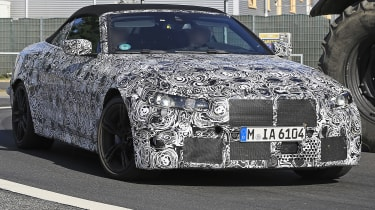BMW M4 Convertible spied - front tracking