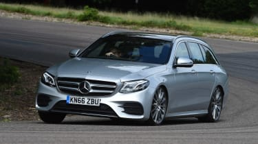 Mercedes E-Class Estate - front cornering