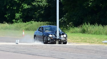 Jaguar S Type crash 2