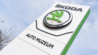 Skoda museum - sign