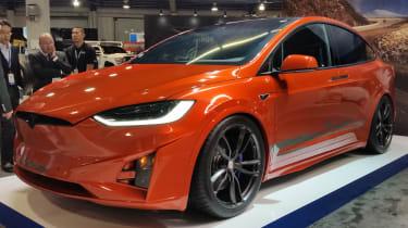 Toyo Tyres Tesla Model X SEMA 2016 show front