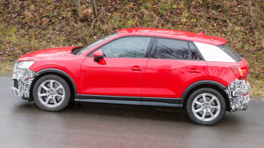 Audi SQ2 - red spied side