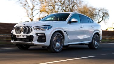 BMW X6 twin test - front