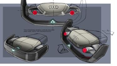 Audi RSQ e-tron Concept - steering wheel
