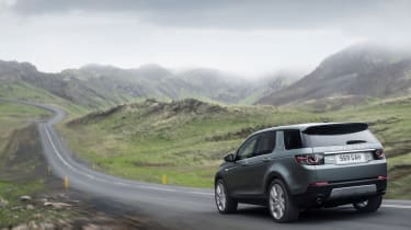Land Rover Discovery Sport rear mountains