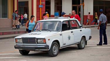 Lada police car
