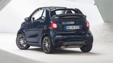 Smart ForTwo and ForFour Brabus cabrio rear static