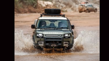 Land Rover Defender off road wade