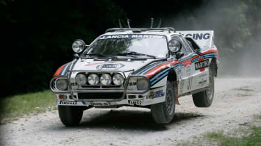 The Lancia 037 was the last rear-whel drive car to win the World Rally Championship.