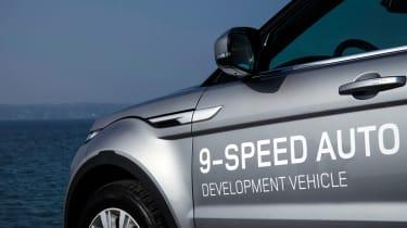 Range Rover Evoque nine-speed detail