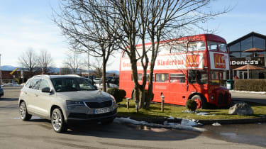 Skoda Karoq road trip - bus
