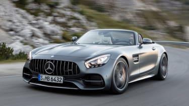 Mercedes-AMG GT C Roadster - grey front cornering