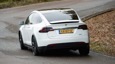 Tesla Model X - rear cornering