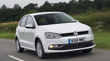 VW polo front driving shot