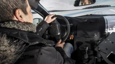 Vauxhall Corsa winter testing - driving