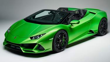 Lamborghini Huracan Evo Spyder - front 3/4