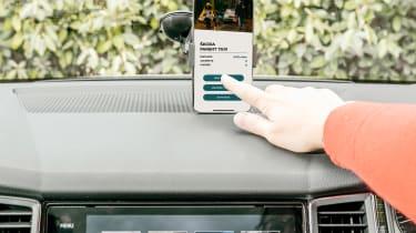 Skoda Parent Taxi app phone